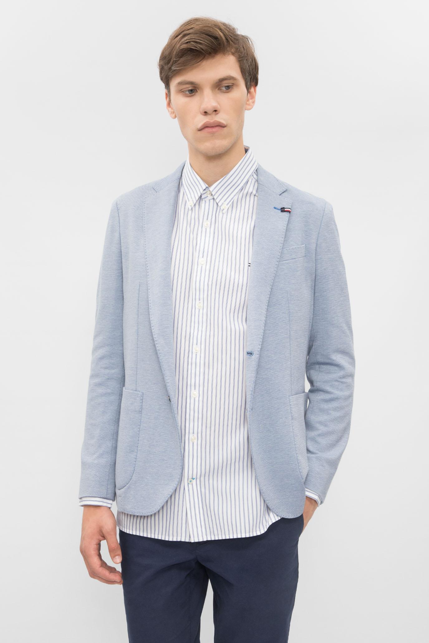 1c33951099e7 Купить Мужской голубой пиджак Tommy Hilfiger Tommy Hilfiger MW0MW00532 –  Киев, Украина. Цены в интернет магазине MD Fashion