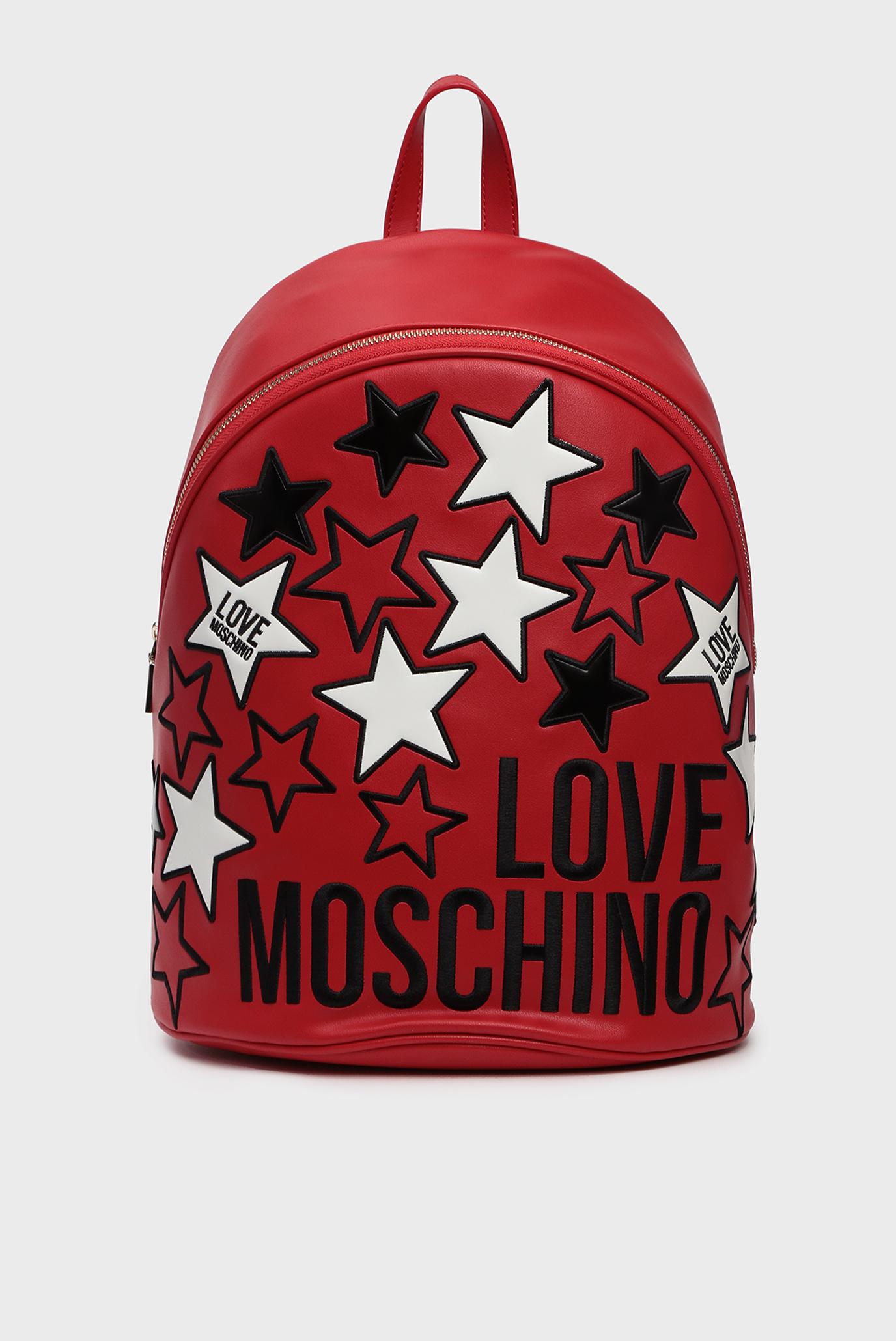 Женский красный рюкзак Love Moschino