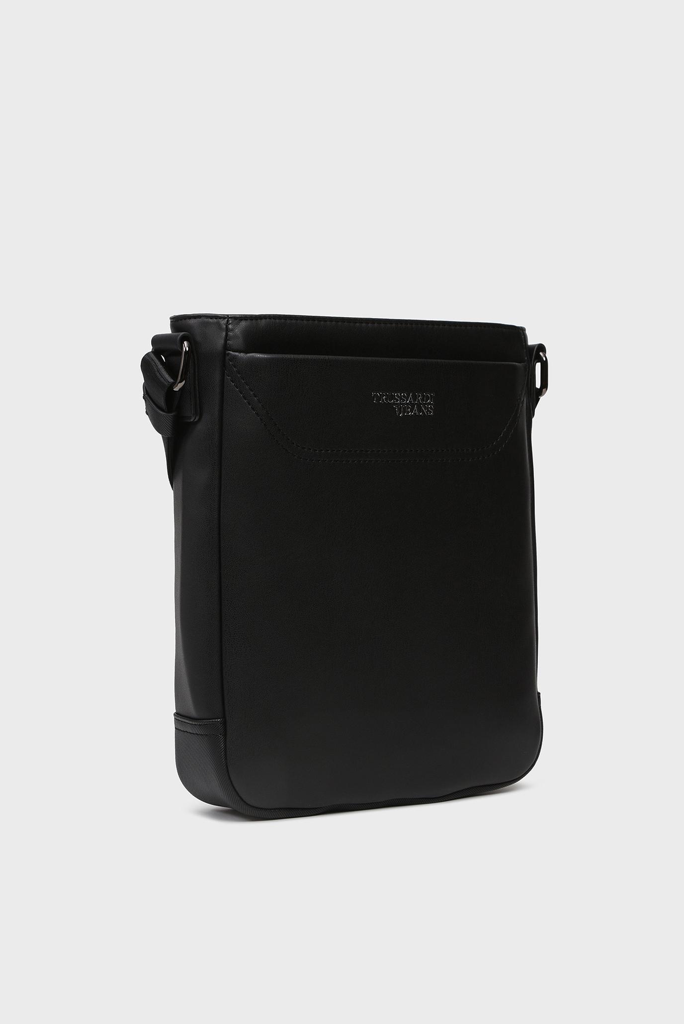 Купить Мужская черная сумка через плечо BUSINESS CITY REPORTER Trussardi Jeans Trussardi Jeans 9Y099995/71B00115 – Киев, Украина. Цены в интернет магазине MD Fashion