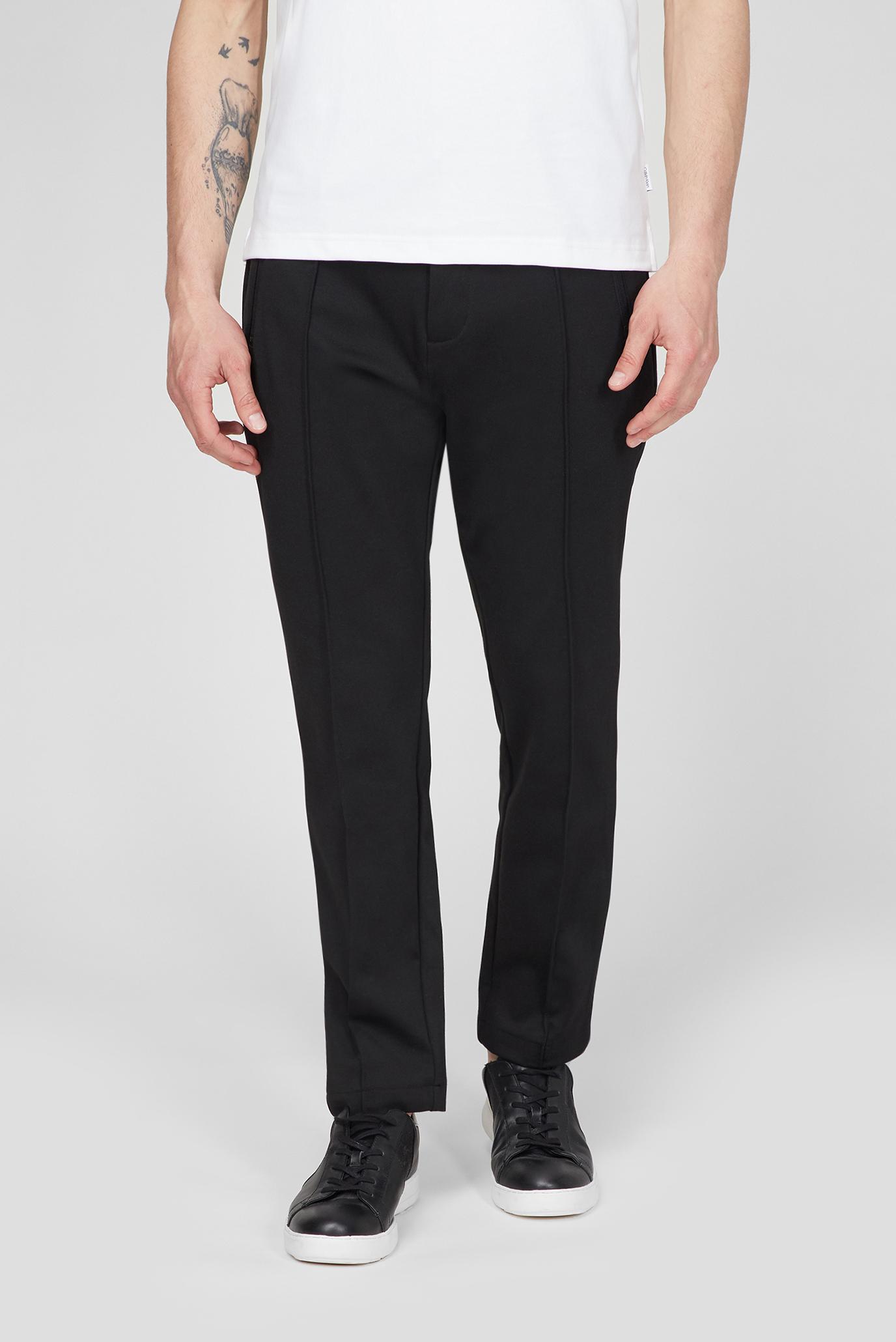 Мужские черные брюки TAPERED COMFORT KNIT 1