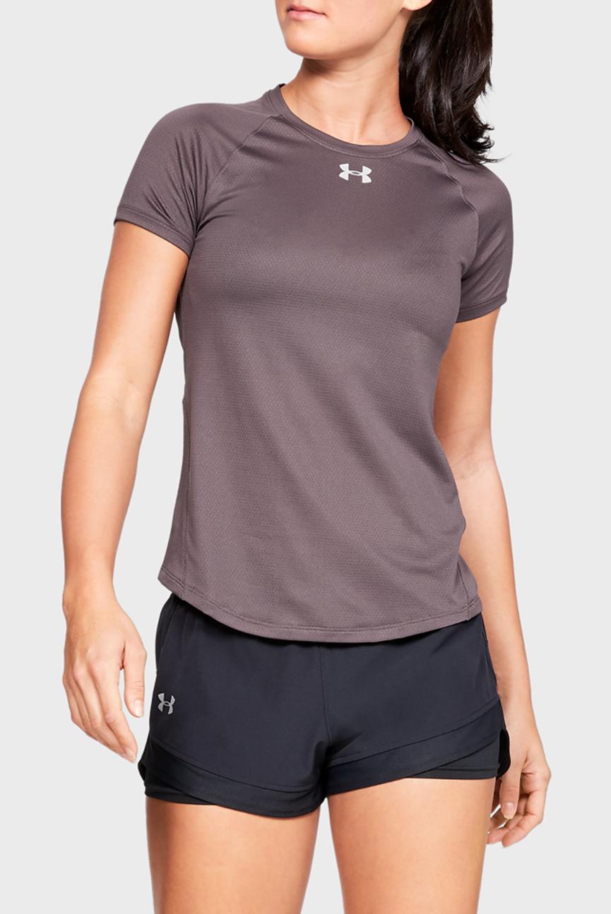Женская коричневая футболка UA Qualifier Short Sleeve