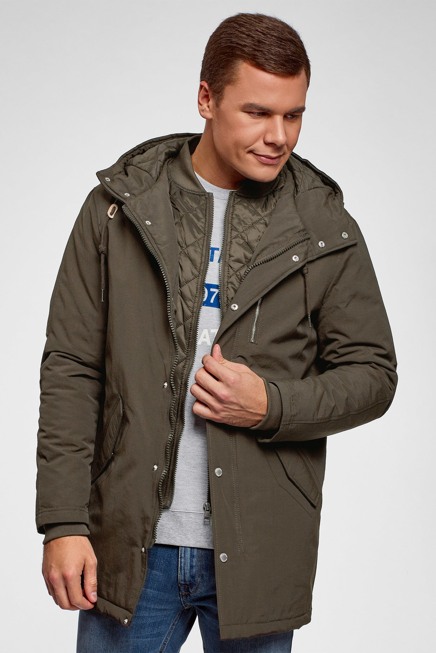 Мужская оливковая куртка