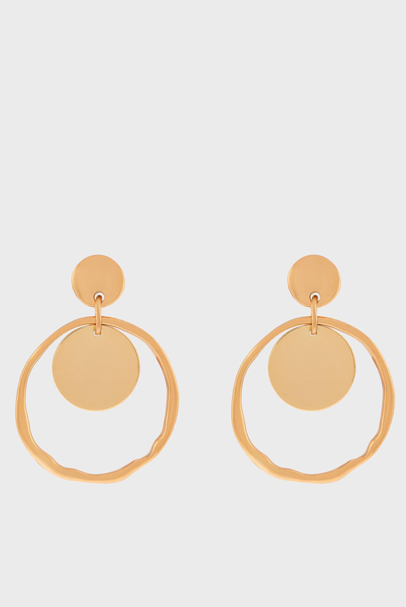 Жіночі золотисті сережки 1