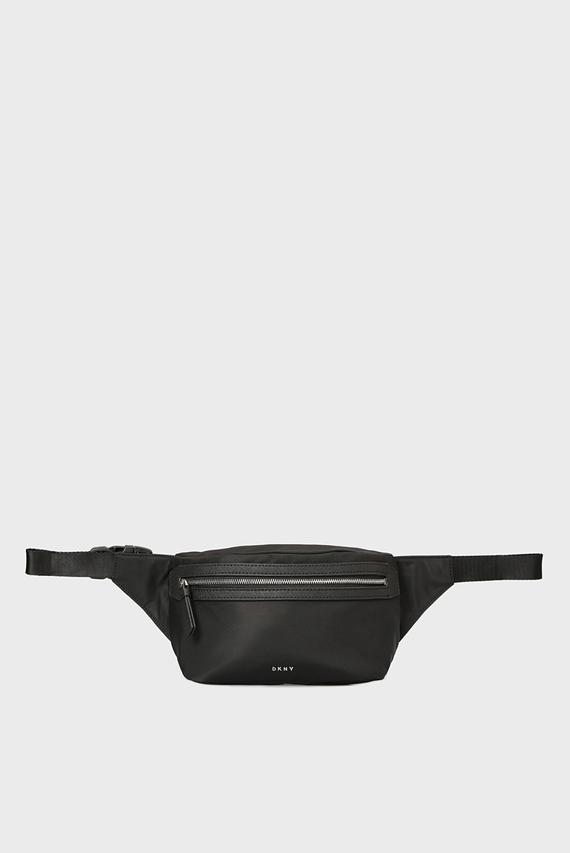 Женская черная поясная сумка CASEY-BELT