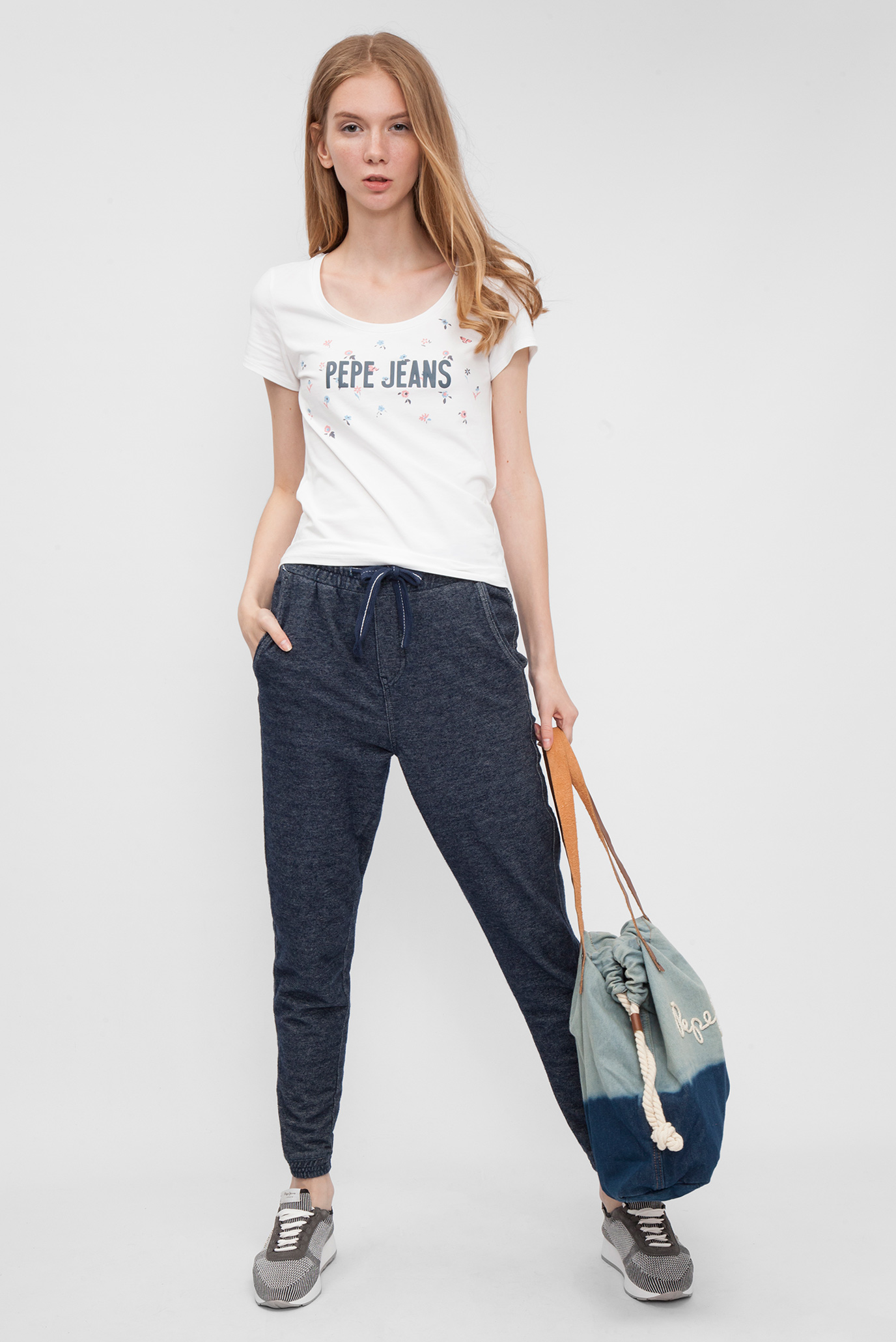 Женские синие спортивные брюки RITZY Pepe Jeans