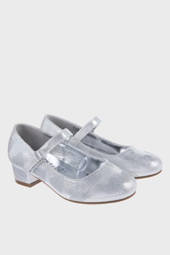 Детские серебристые туфли