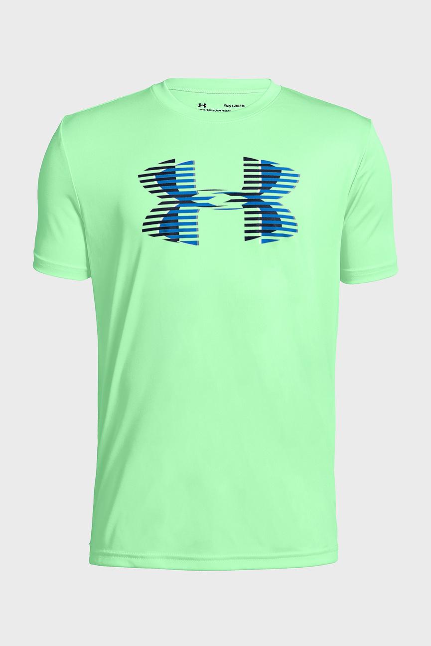 Детская зеленая футболка Tech Big Logo Solid Tee