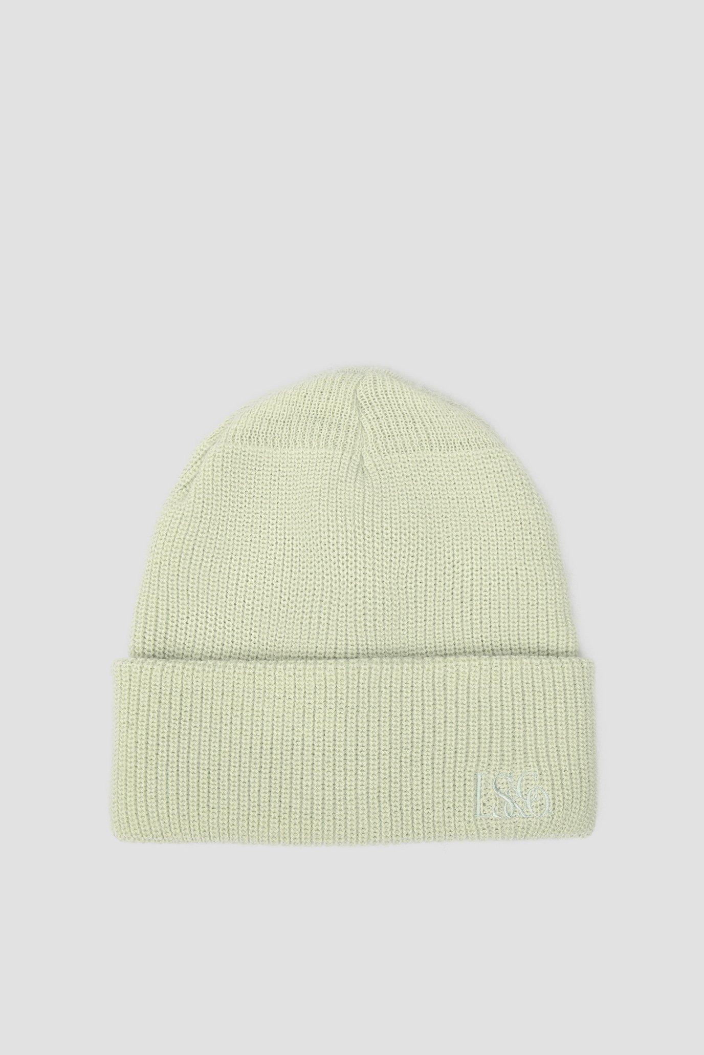 Жіноча зелена шапка 1