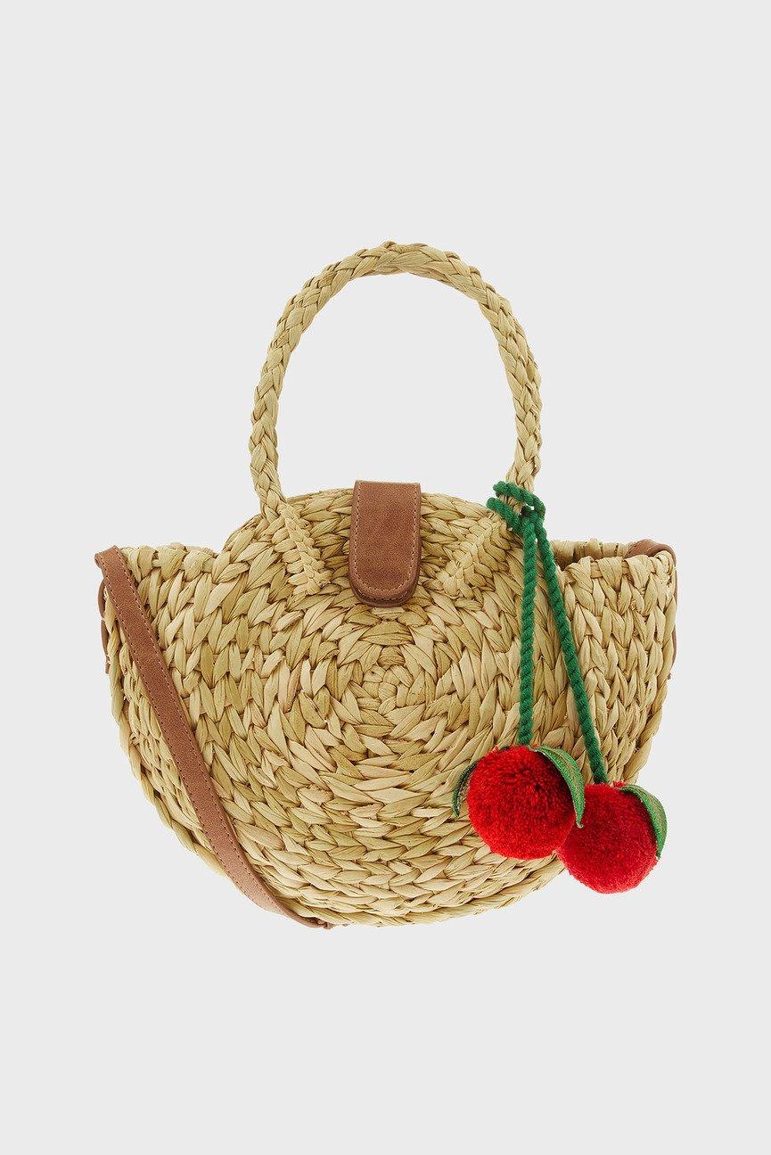 Женская бежевая сумка на плечо BON BON CHERRY