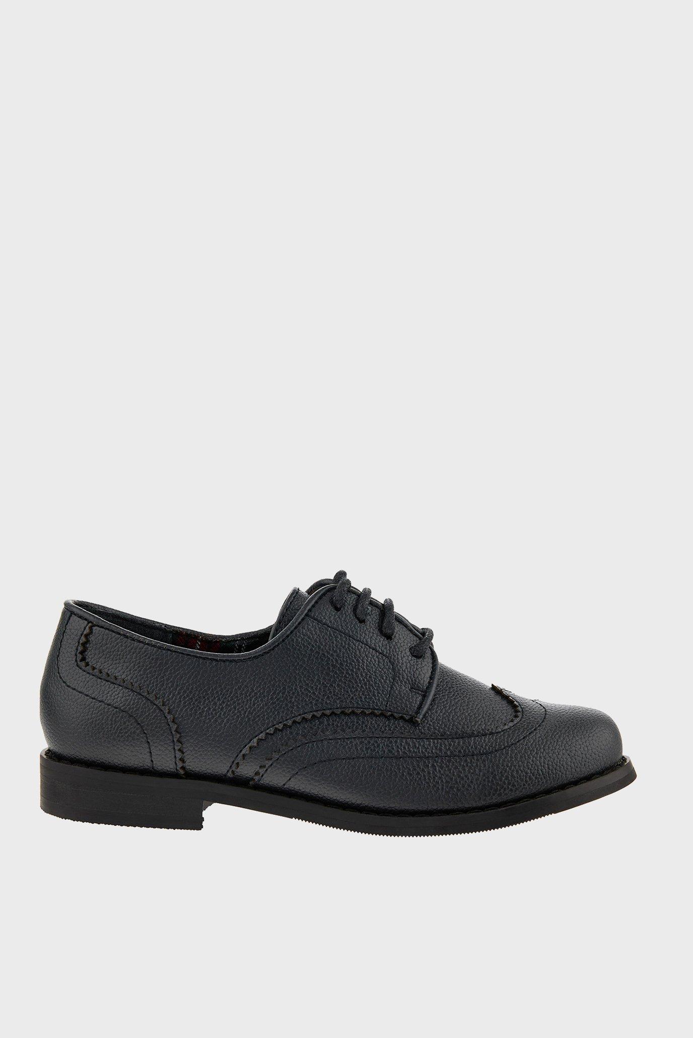 Детские черные туфли BOY BROGUE 1