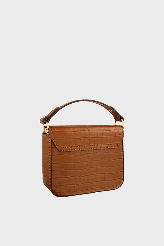 Женская коричневая сумка через плечо OLIVE LOCK