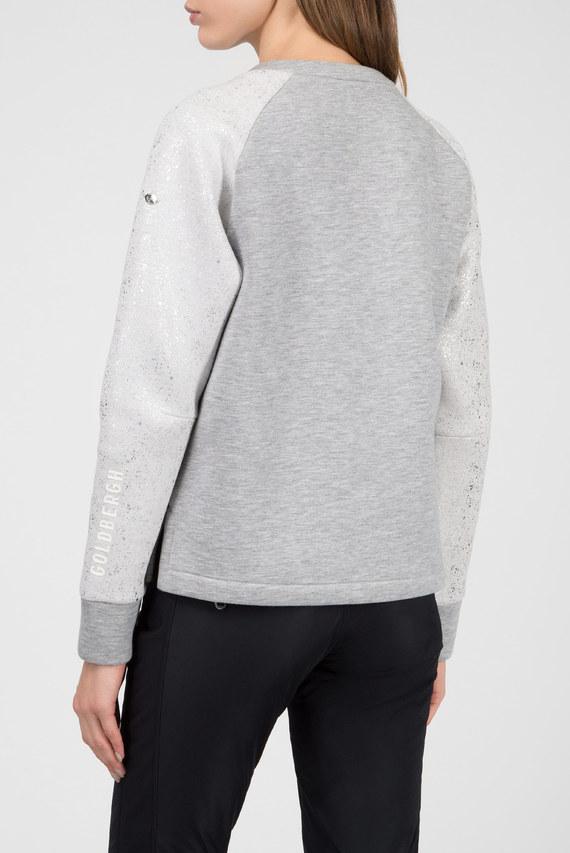 Женский серый свитшот с принтом