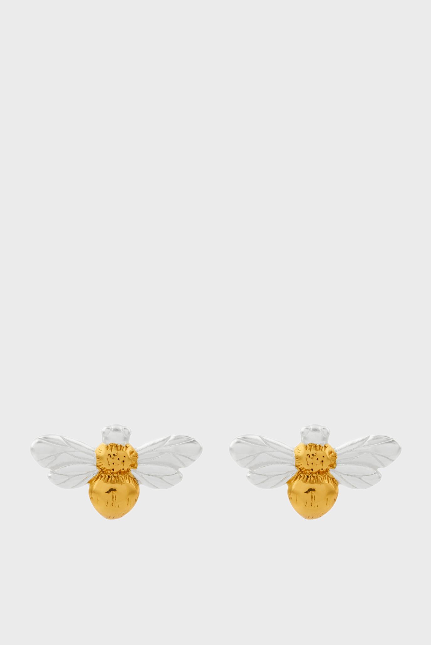 Жіночі срібні сережки BEE STUDS 1