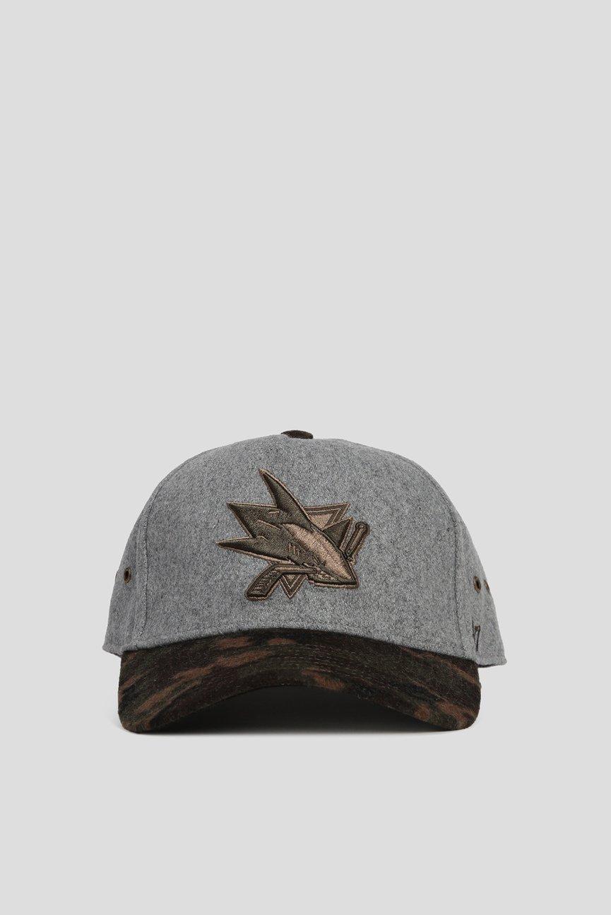 Серая шерстяная кепка DT HITCHNER SAN JOSE SHARKS