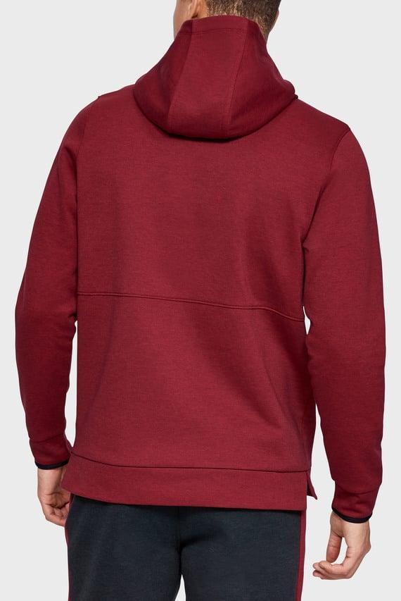 Мужское красное худи Athlete Recovery Fleece Graphic