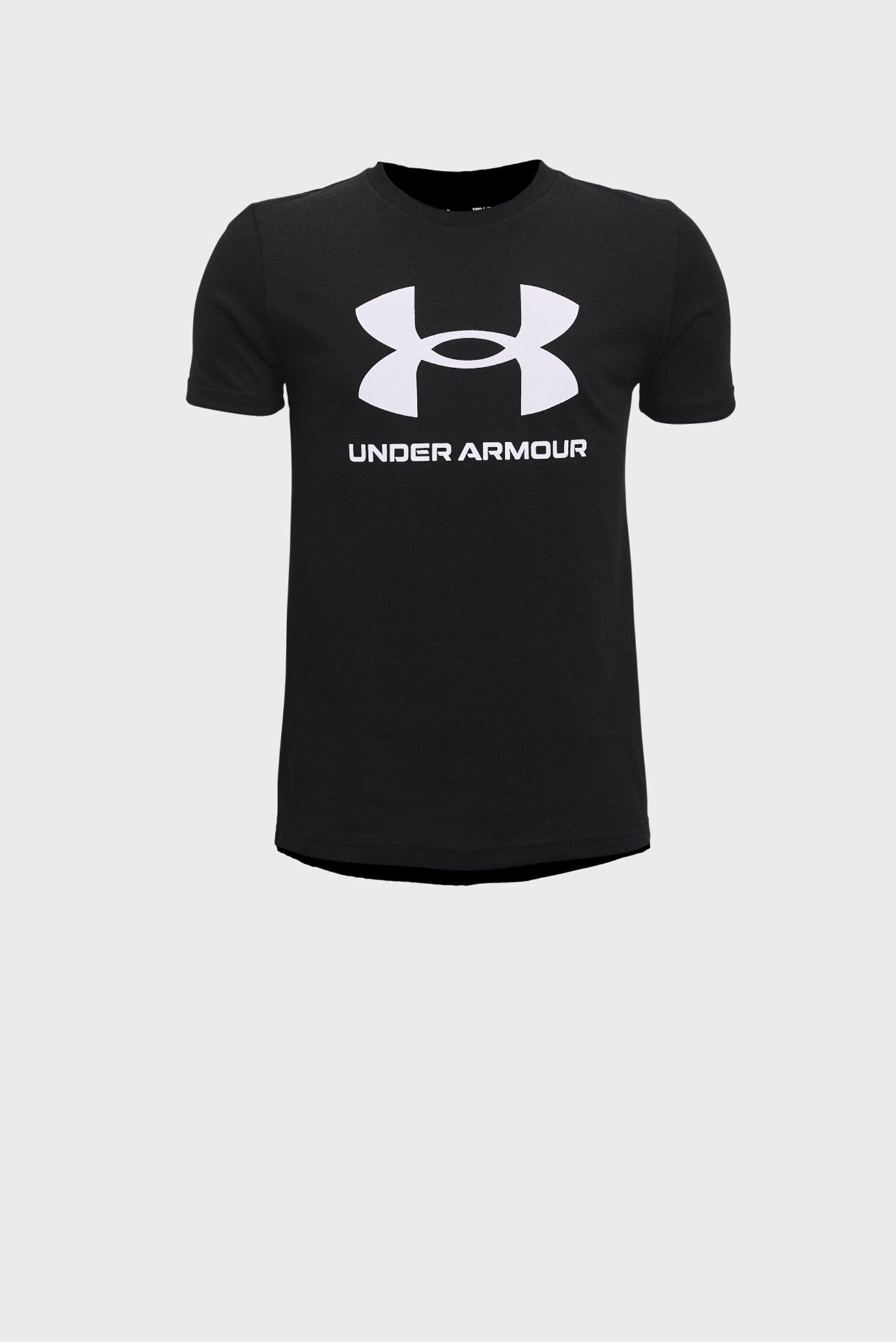 Детска черная футболка UA Sportstyle Logo SS 1