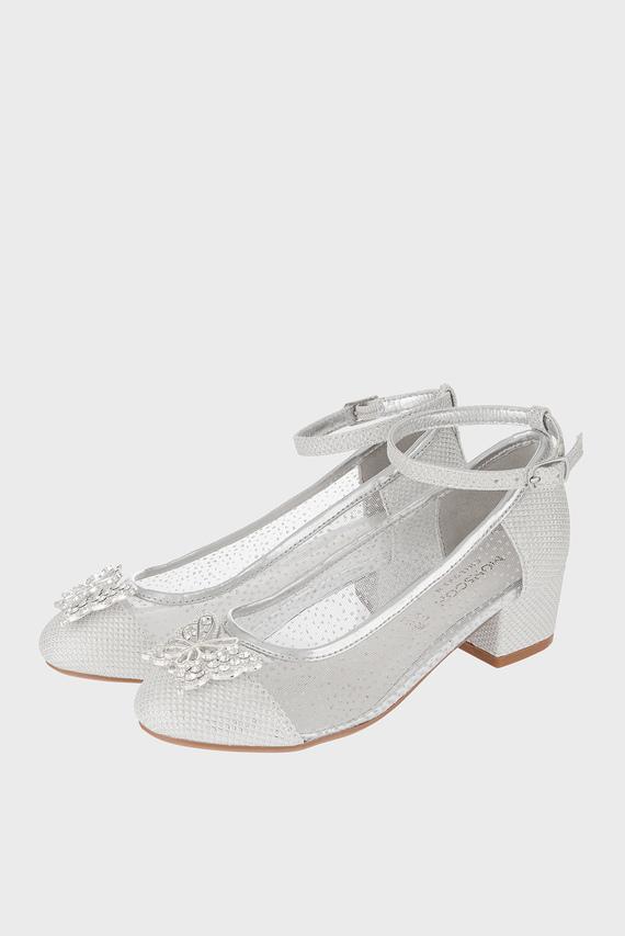 Детские серебристые туфли LOTTIE PRINCESS BUTTERFLY