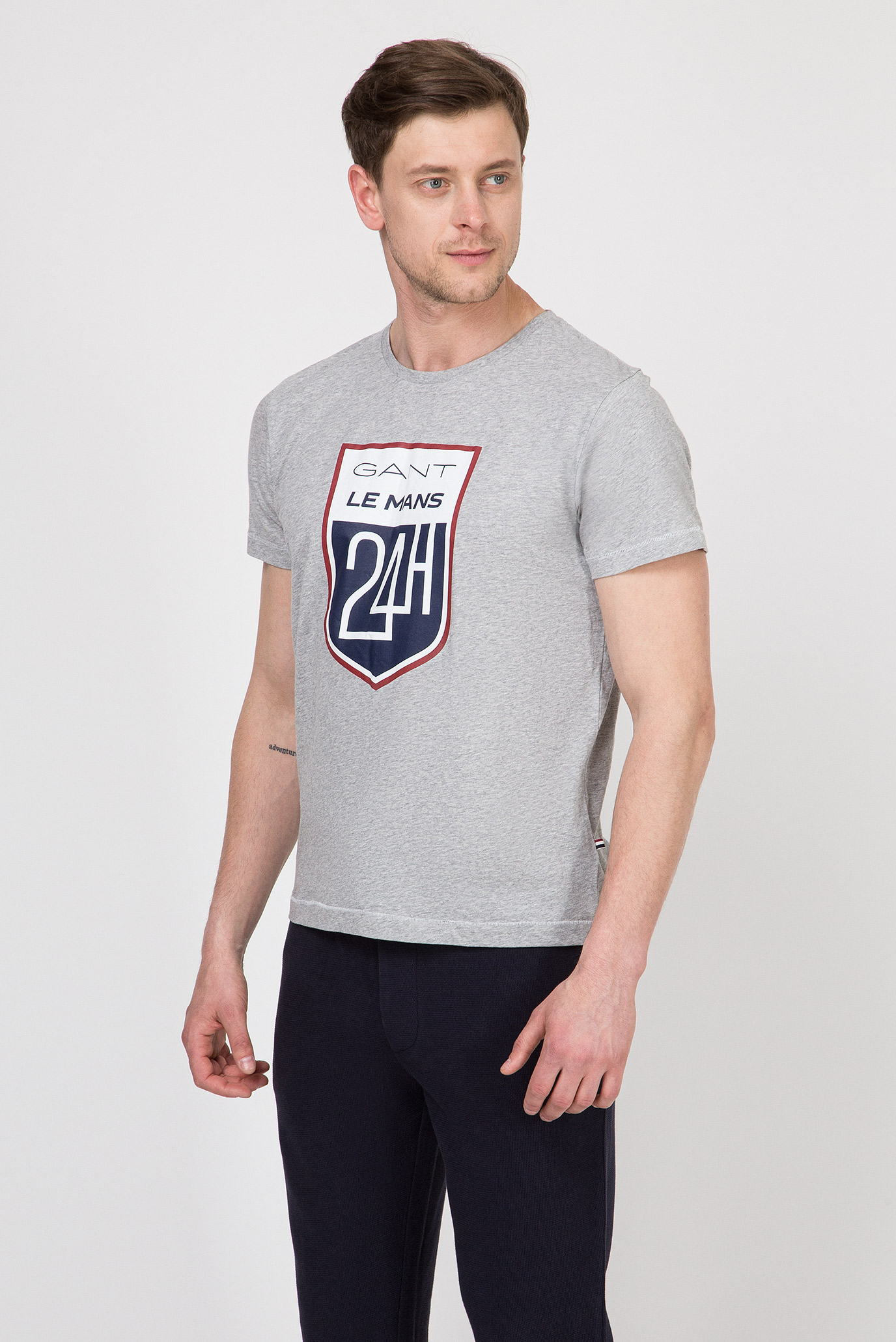 Купить Мужская серая футболка LM Gant Gant 2003047 – Киев, Украина. Цены в интернет магазине MD Fashion