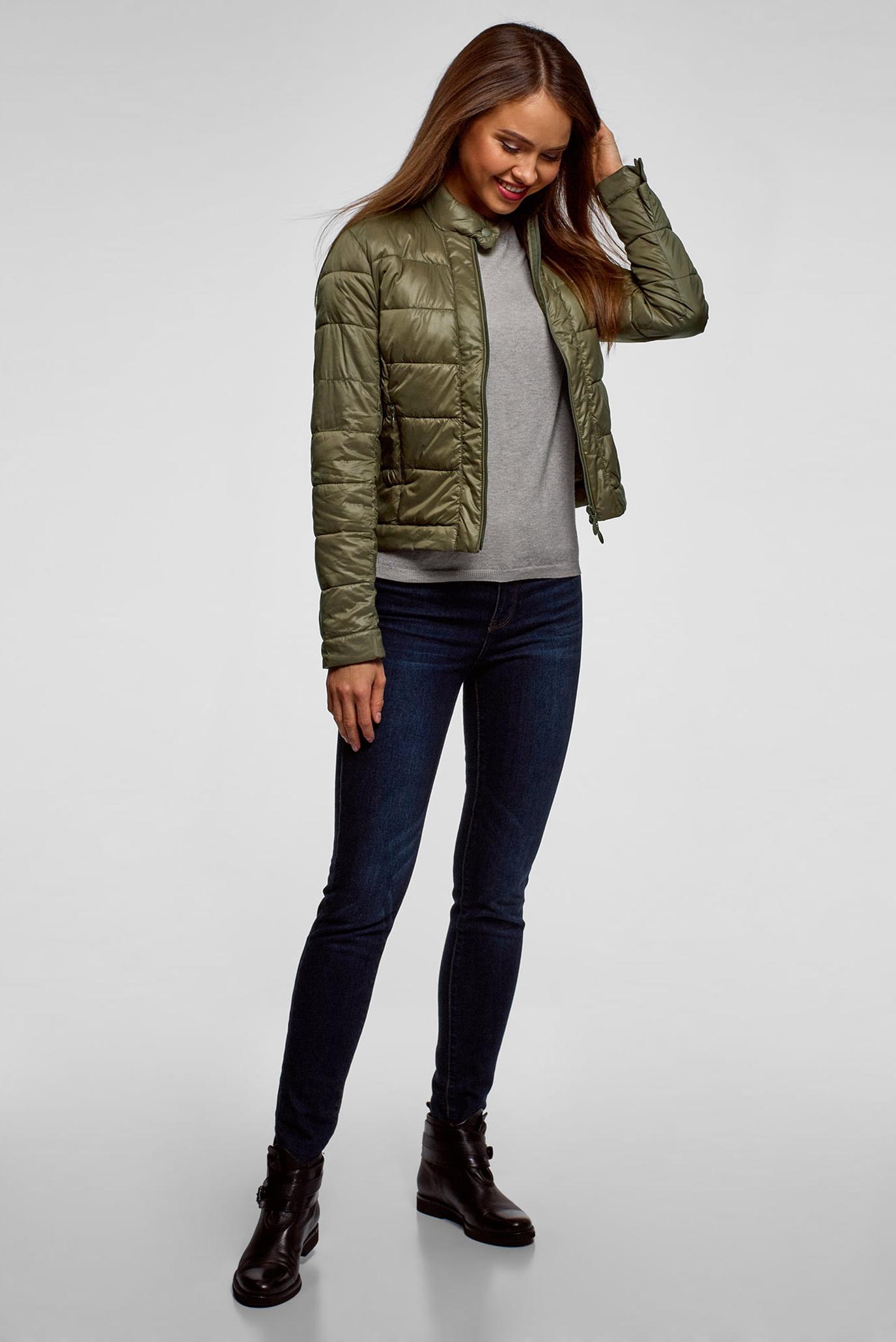 Купить Женская оливковая куртка Oodji Oodji 10203038-5B/33445/6801N – Киев, Украина. Цены в интернет магазине MD Fashion