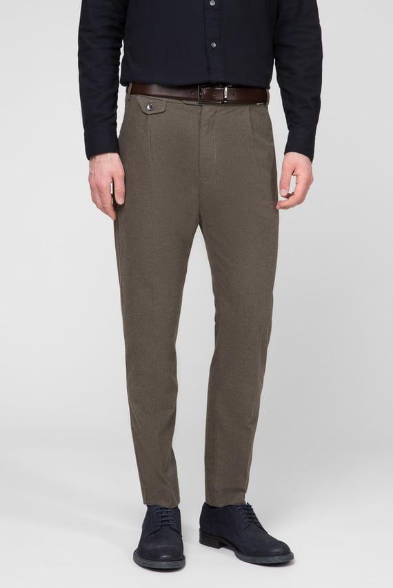 Мужские зеленые брюки TAPERED FIT HEATHER