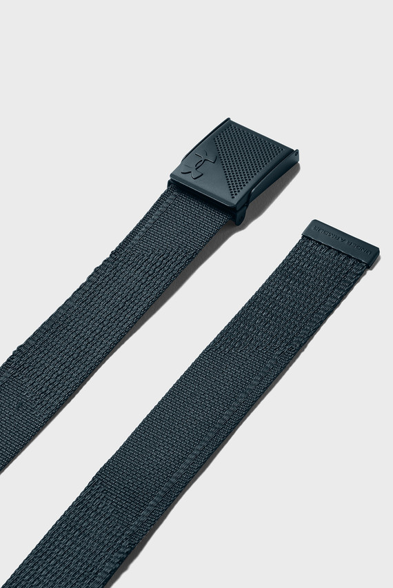 Мужской синий двусторонний ремень Men's Novelty Webbing Belt-GRN