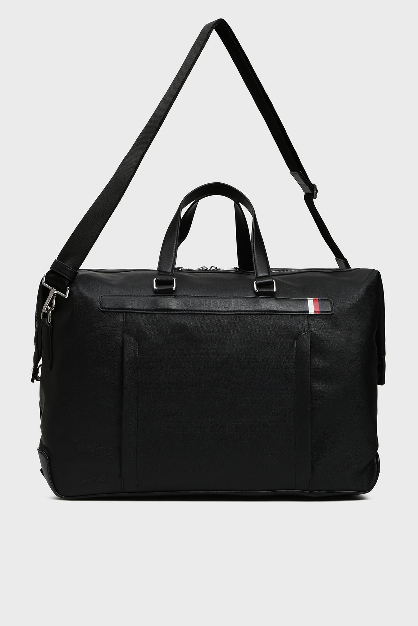 Купить Мужская черная дорожная сумка COATED CANVAS DUFFLE Tommy Hilfiger Tommy Hilfiger AM0AM04963 – Киев, Украина. Цены в интернет магазине MD Fashion