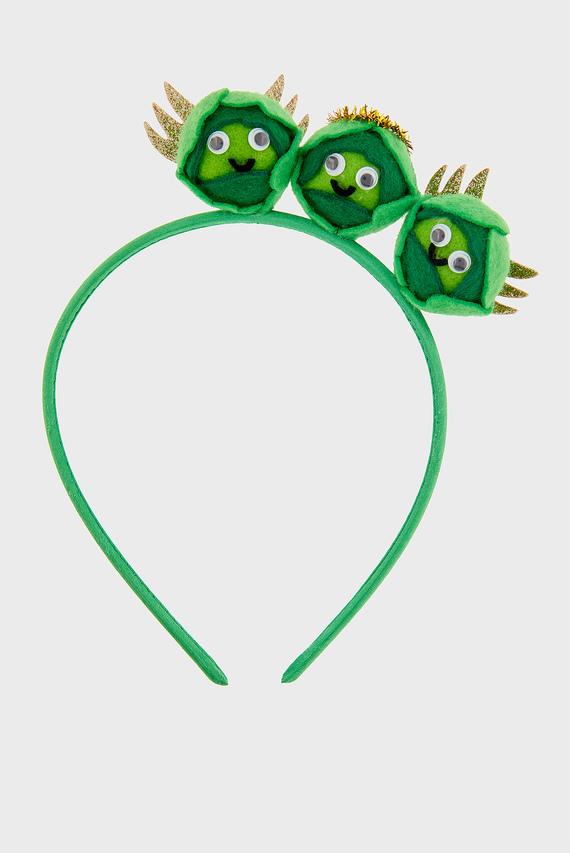 Женский зеленый обруч BRUSSELS SPROUTS HEA