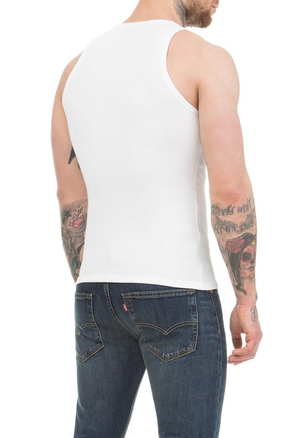 Набор мужских белых маек Slim fit (2 шт)