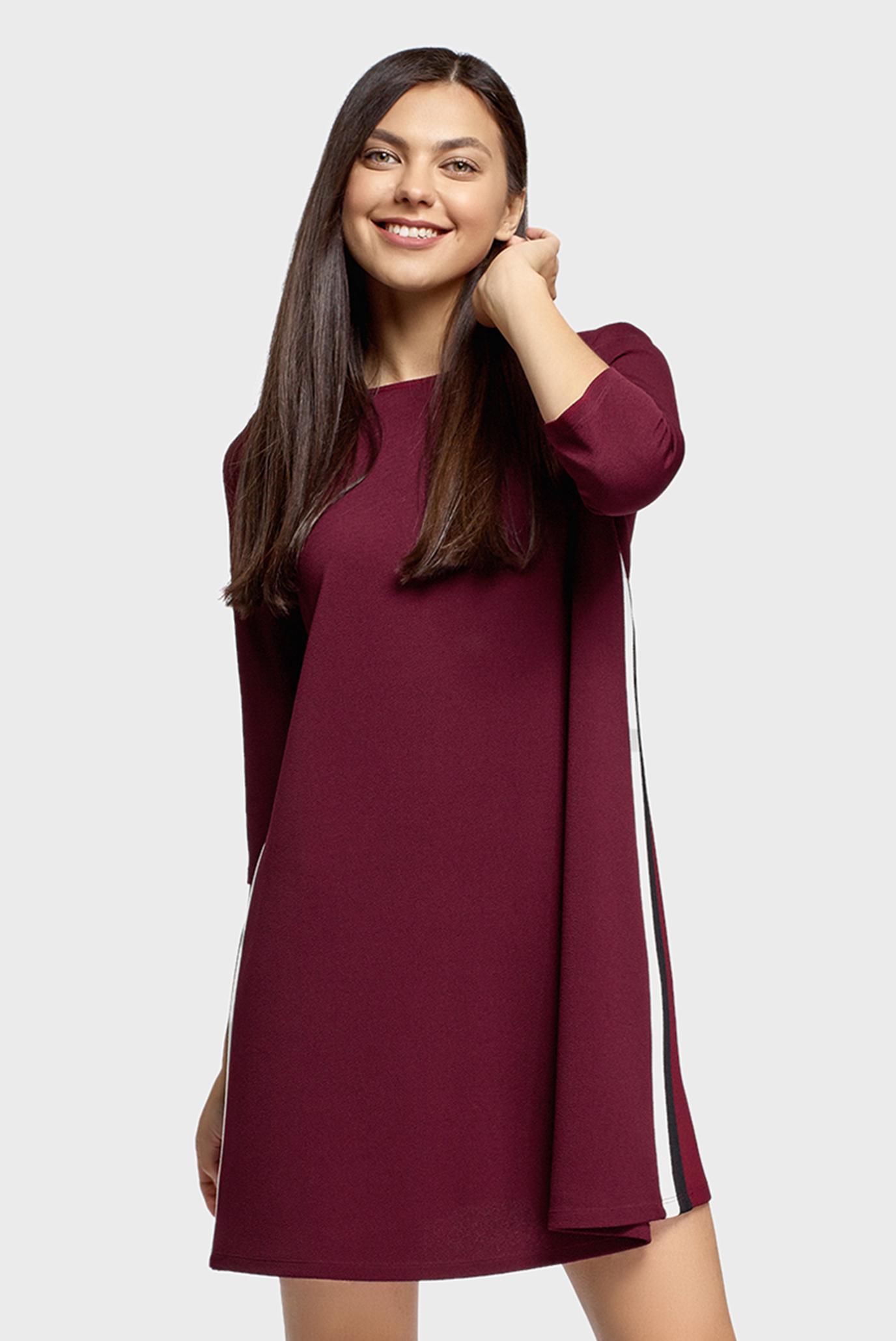 Женское бордовое платье 1