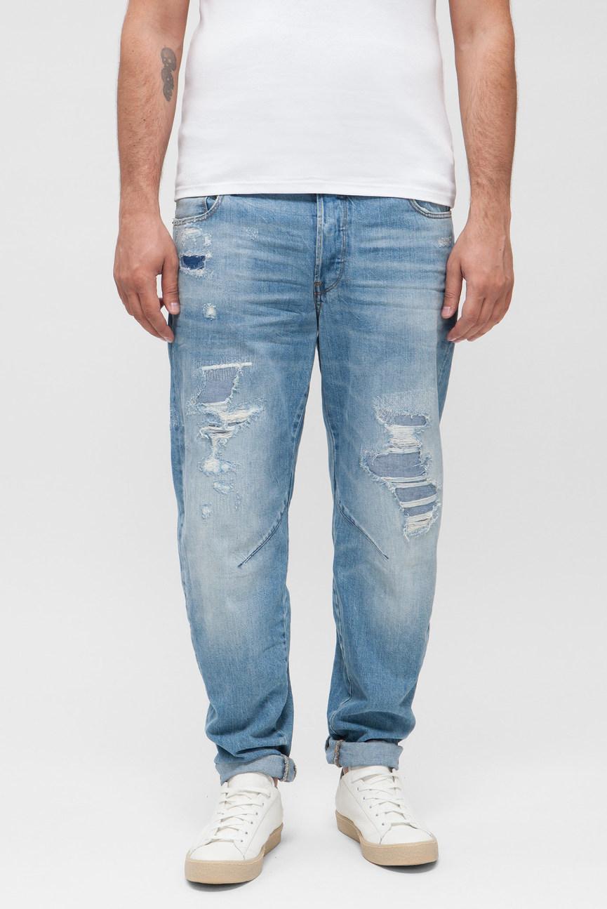 Мужские голубые джинсы Arc 3D Relaxed Tapered
