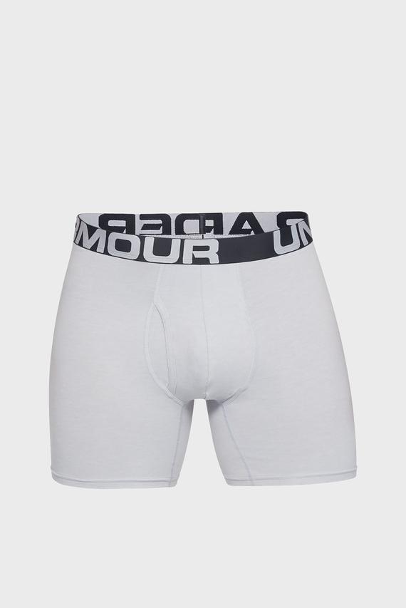 Мужские серые боксеры (3 пары) Charged Cotton