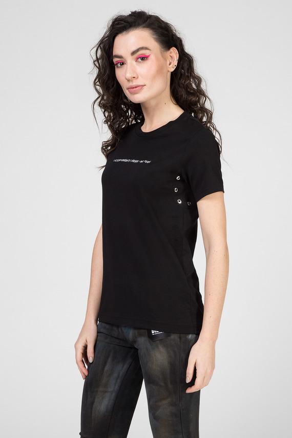 Женская черная футболка T-SILY-WR