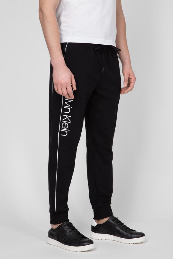Мужские черные спортивные брюки LOGO PRINT