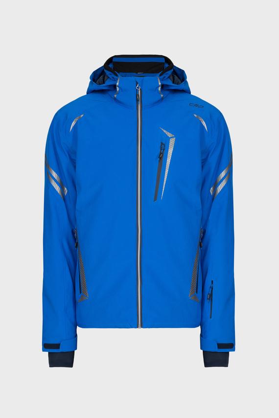 Мужская синяя лыжная куртка