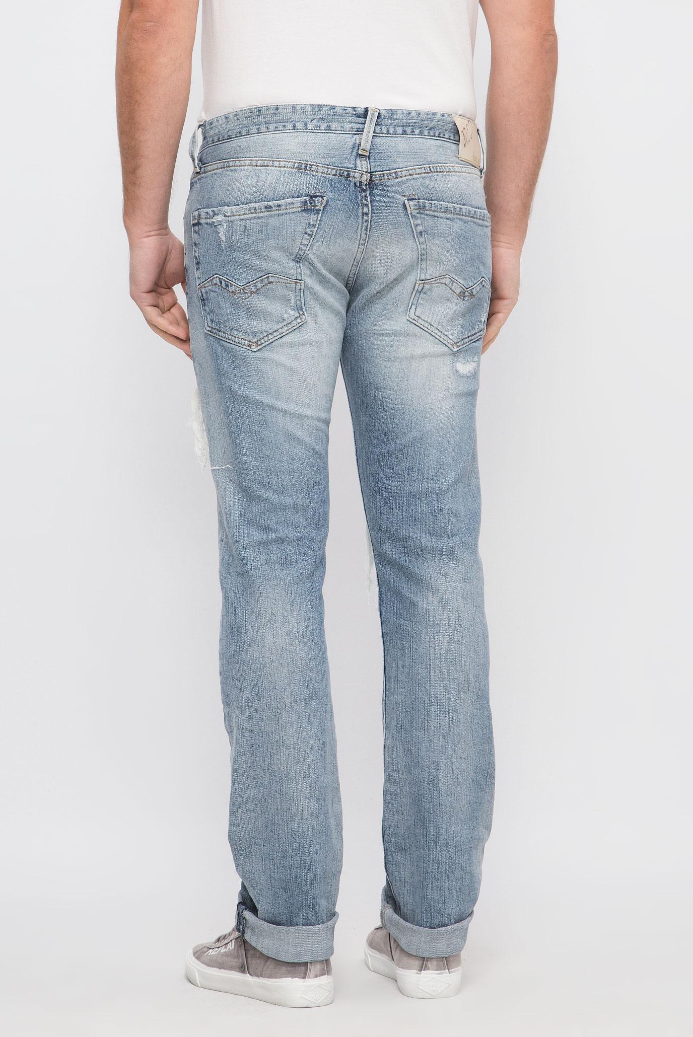Купить Мужские голубые джинсы WAITOM Replay Replay M983  .000.99C 184 – Киев, Украина. Цены в интернет магазине MD Fashion