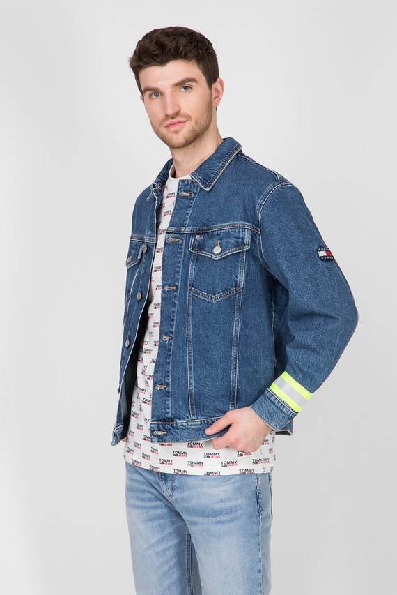 Мужская синяя джинсовая куртка OVERSIZED DENIM TRUCKER
