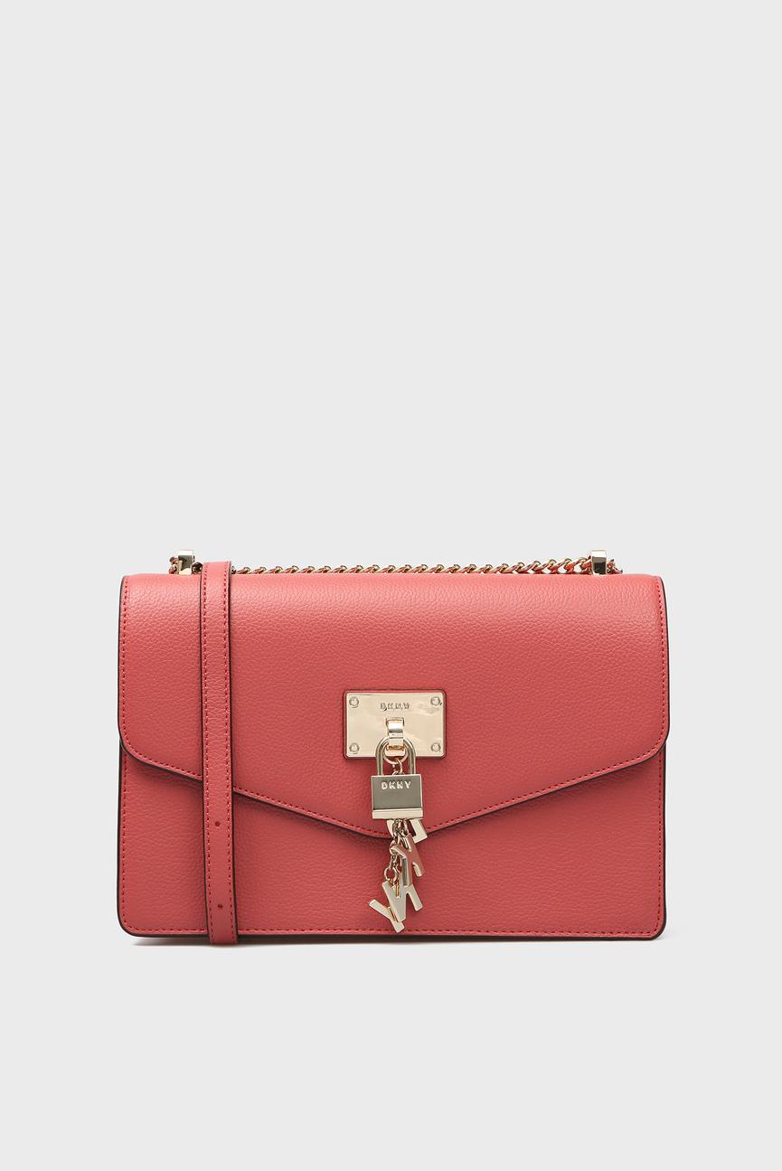 Женская красная кожаная сумка через плечо ELISSA-LG