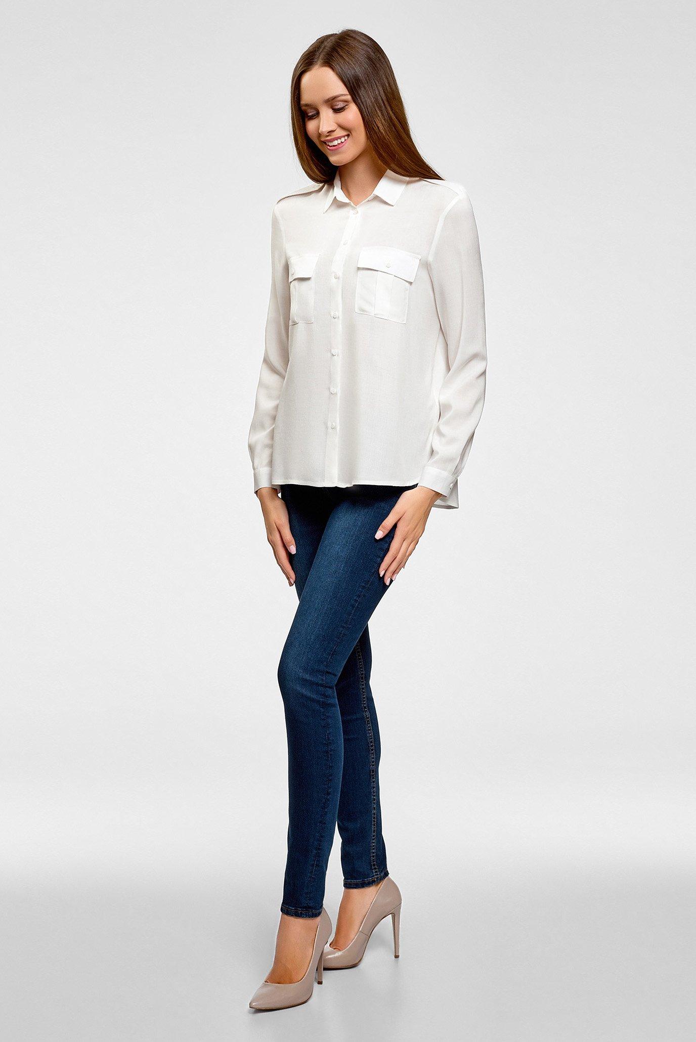 Купить Женская белая блуза Oodji Oodji 11411127B/26346/1200N – Киев, Украина. Цены в интернет магазине MD Fashion