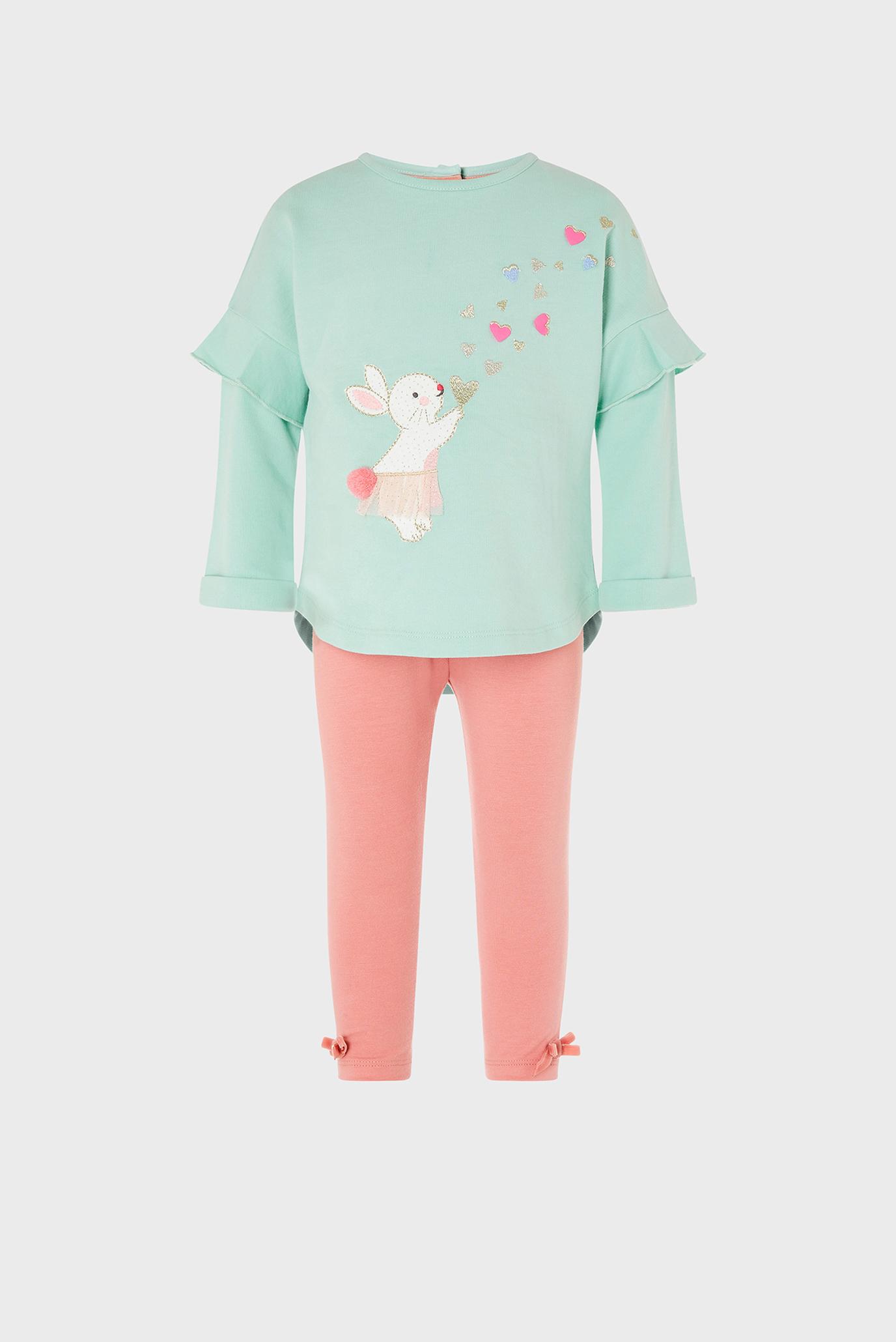 Дитячий комплект одягу (лонгслів, легінси) BABY BUNNY HEART SET 1