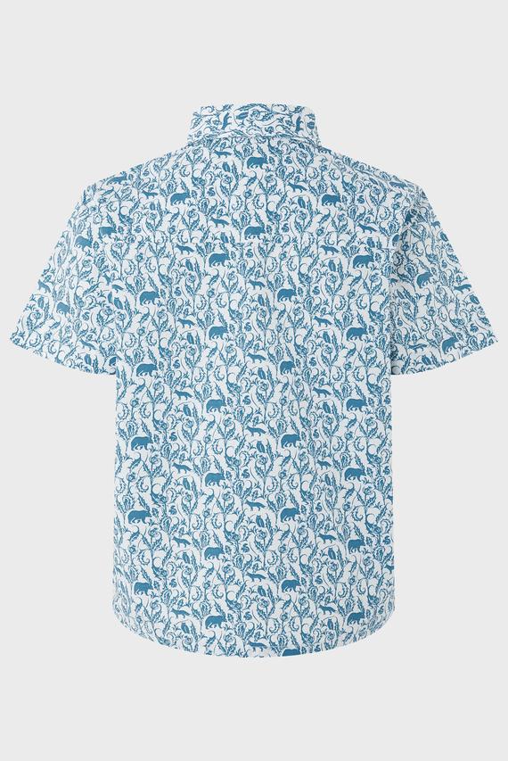 Детская голубая рубашка Haden Print SS Shirt