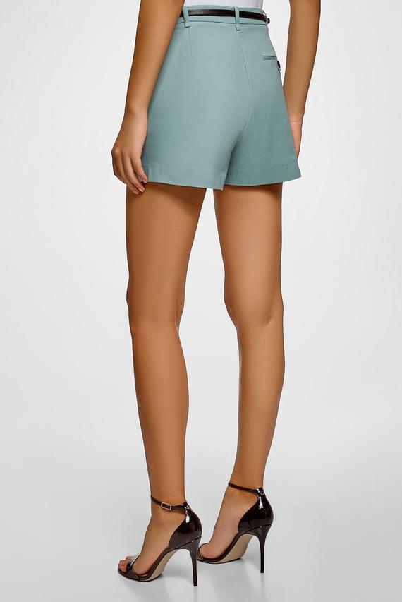 Женские мятные шорты
