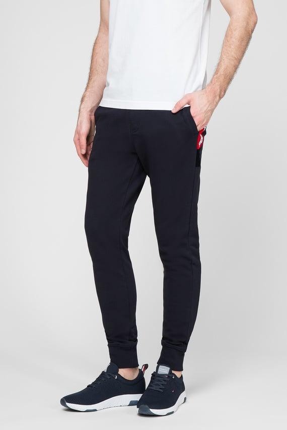 Мужские темно-синие спортивные брюки FLOCKED