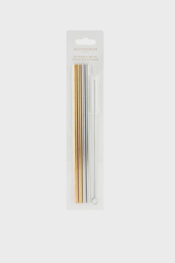 Многоразовые трубочки (4 шт) METAL REUSEABLE