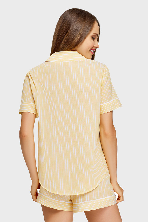 Женская желтая ночная рубашка