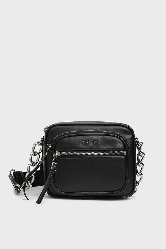 Женская черная сумка через плечо Abby