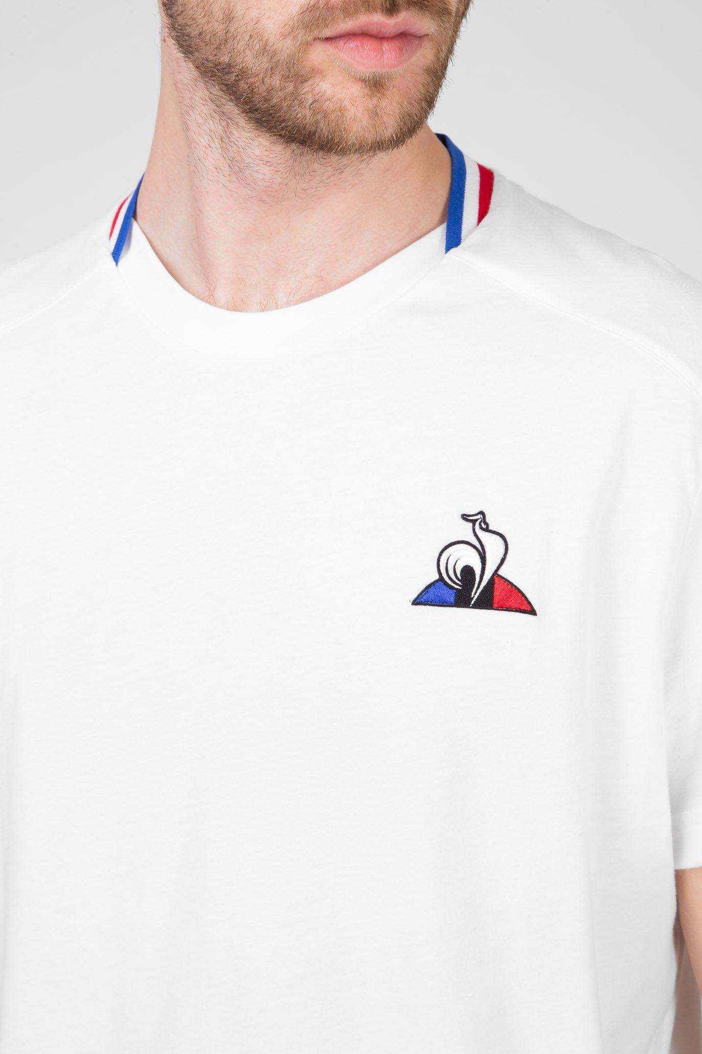 Мужская белая футболка TRICOLORE T-SHIRT Le Coq Sportif
