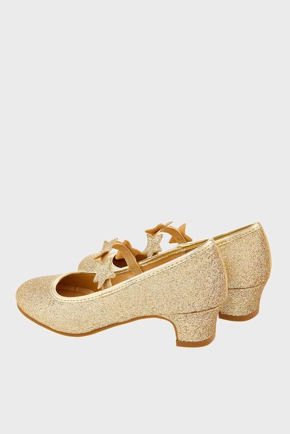 Детские золотистые туфли GLITTER STAR FLAMENCO