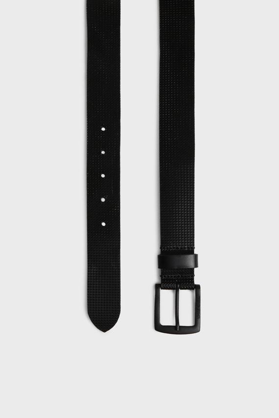 Мужской черный кожаный ремень B-ERBE