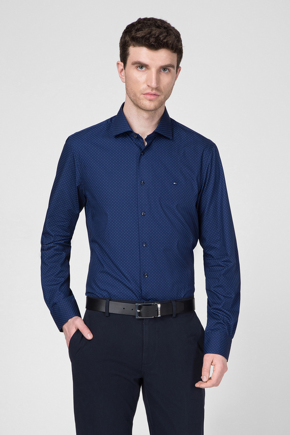 Мужская синяя рубашка POPLIN DOT