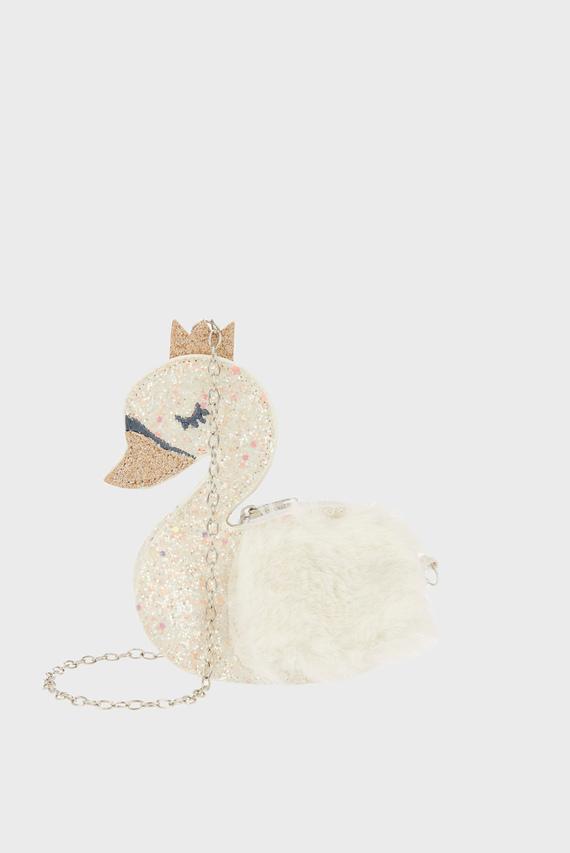 Детская сумка через плечо Sienna Swan Glitter